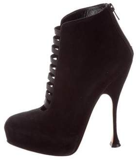 Brian Atwood Suede Cutout Booties