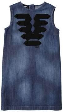 DSQUARED2 Denim Dress W/ Grosgrain Details