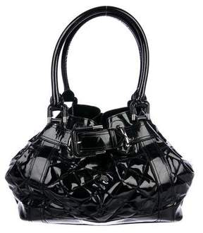 Burberry Quilted Patent Leather Beaton Tote