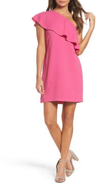 Charles Henry One-Shoulder Ruffle Dress (Petite)