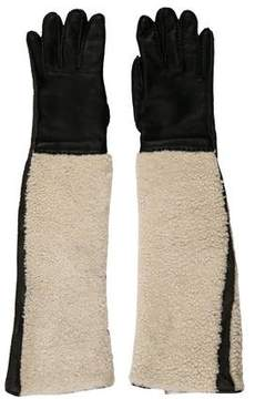 Marni Leather Shearling Long Gloves
