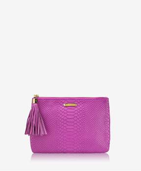GiGi New York | All In One Bag In Orchid Embossed Python | Orchid embossed python