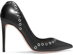 Alexander McQueen Eyelet-embellished Leather Pumps - Black