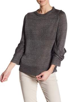 Brochu Walker Draped Sleeve Linen Pullover