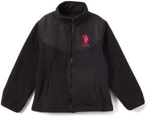 U.S. Polo Assn. Black Polar Fleece Jacket - Toddler & Girls