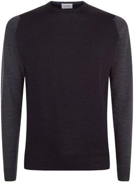 John Smedley Contrast Sleeves Merino Wool Sweater
