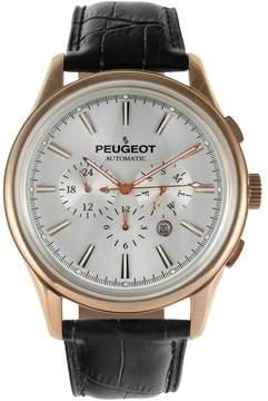 Peugeot Men's Automatic Leather Skeleton Watch - MK910RBK