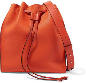 J.W.Anderson Drawstring Textured-leather Bucket Bag - Orange