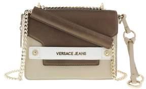 Versace EE1VRBBU3 Beige/ Chocolate Shoulder Bag with chain strap