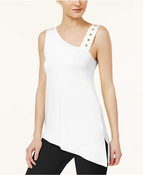 Cable & Gauge Asymmetrical One-Shoulder Top