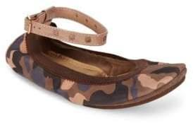 Yosi Samra Leather Ankle Strap Flats