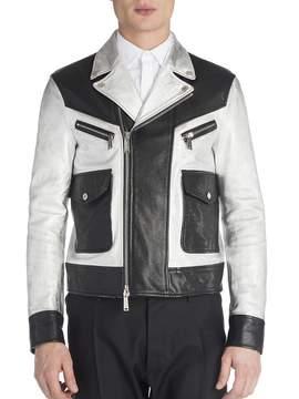 Viktor & Rolf Men's Leather Two-Toned Jacket