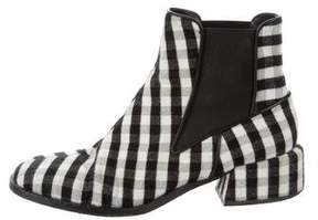 Tibi Gingham Ankle Boots