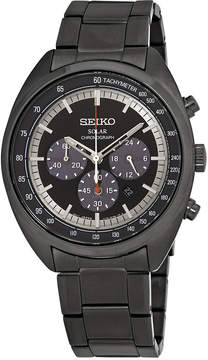 Seiko Solar Chronograph Black Dial Men's Watch