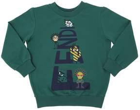 Fendi Logo Printed Cotton Sweatshirt