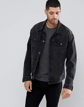 Lee Rider Oversized Denim Washed Black Jacket