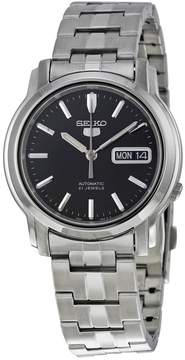 Seiko 5 Automatic Black Dial Stainless Steel Men's Watch