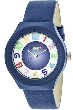 Crayo Atomic Collection CRACR3506 Unisex Watch with Leather Strap