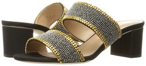 Alberta Ferretti Slip on Double Strap Chunky Heel