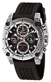 Bulova Men's Precisionist Black Rubber Strap Watch