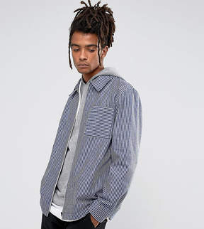 Reclaimed Vintage Inspired Coach Shirt In Stripe
