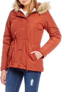 Copper Key Faux Fur Hooded Anorak Jacket