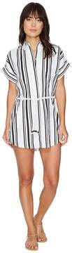 Plush Soleil Striped Linen Beach Dress