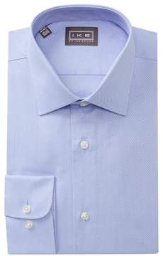 Ike Behar Textured Dobby Regular Fit Dress Shirt
