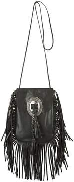 Saint Laurent Anita Fringed Shoulder Bag - BLACK - STYLE