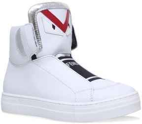 Fendi Monster Eyes High-Top Sneakers