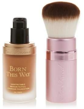 Too Faced Born This Way Foundation & Kabuki Brush - Caramel