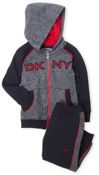 DKNY Toddler Boys) Two-Piece Color Block Hoodie & Joggers Set
