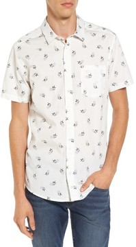 RVCA Men's X Kevin Long Hummingbird Woven Shirt