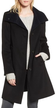 Donna Karan Women's Dkny Felt Twill Wool Blend Coat