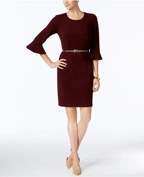 Connected Bell-Sleeve Sheath Dress