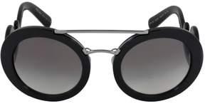Prada W-SG-3840 SPR 13S 1AB-0A7 - Black & Grey Gradient Sunglasses for Womens - 54 x 25 x 135 mm