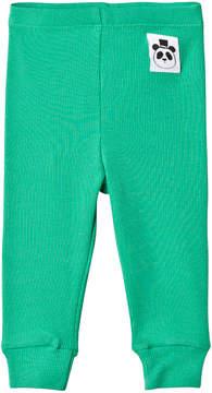 Mini Rodini Green Rib Leggings
