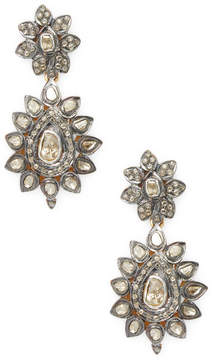 Artisan Women's 18K Gold Antique-Looking Polki Diamond Earrings