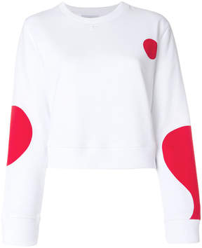 Courreges oversized dots print sweatshirt