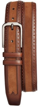 Mezlan Men's Fuju Suede & Leather Belt