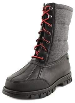 Lauren Ralph Lauren Quinlyn Women Round Toe Leather Black Winter Boot.