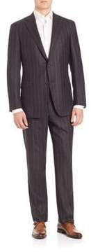 Saks Fifth Avenue COLLECTION BY SAMUELSOHN Classic-Fit Pinstripe Wool Suit