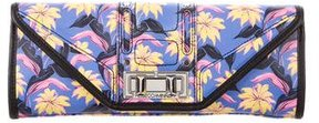 Rebecca Minkoff Floral Leather Clutch - BLUE - STYLE