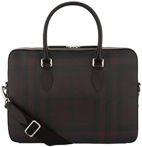 Burberry Checked Saffiano Briefcase