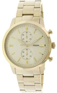 Fossil Townsman Chronograph Cream Dial Men's Watch FS5348