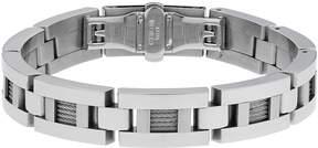 Lynx Stainless Steel Cable Link Bracelet - Men