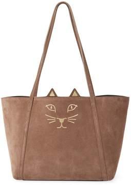 Charlotte Olympia Women's Suede Mini Feline Shopper