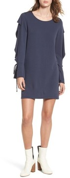 Everly Women's Ruffle Sleeve Sweatshirt Dress