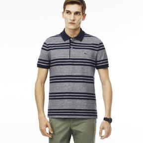 Lacoste Men's Regular Fit Striped Piqu Polo Shirt