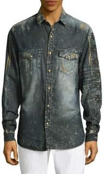 Robin's Jeans Denim Cotton Casual Button-Down Shirt